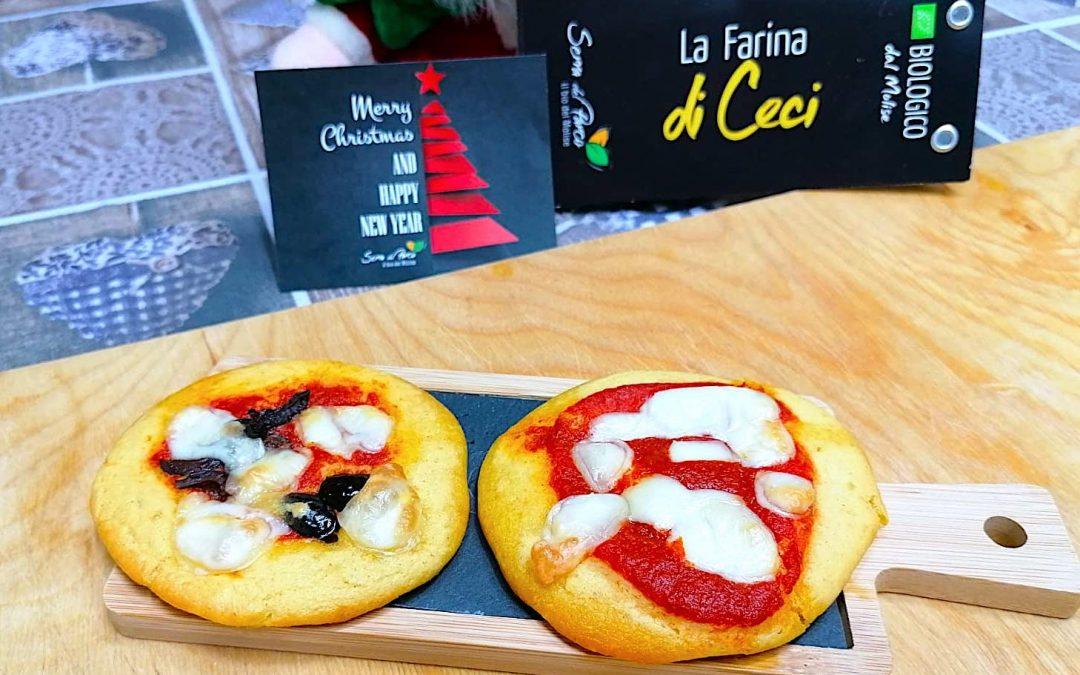 Pizzette veloci con Farina di Ceci Bio