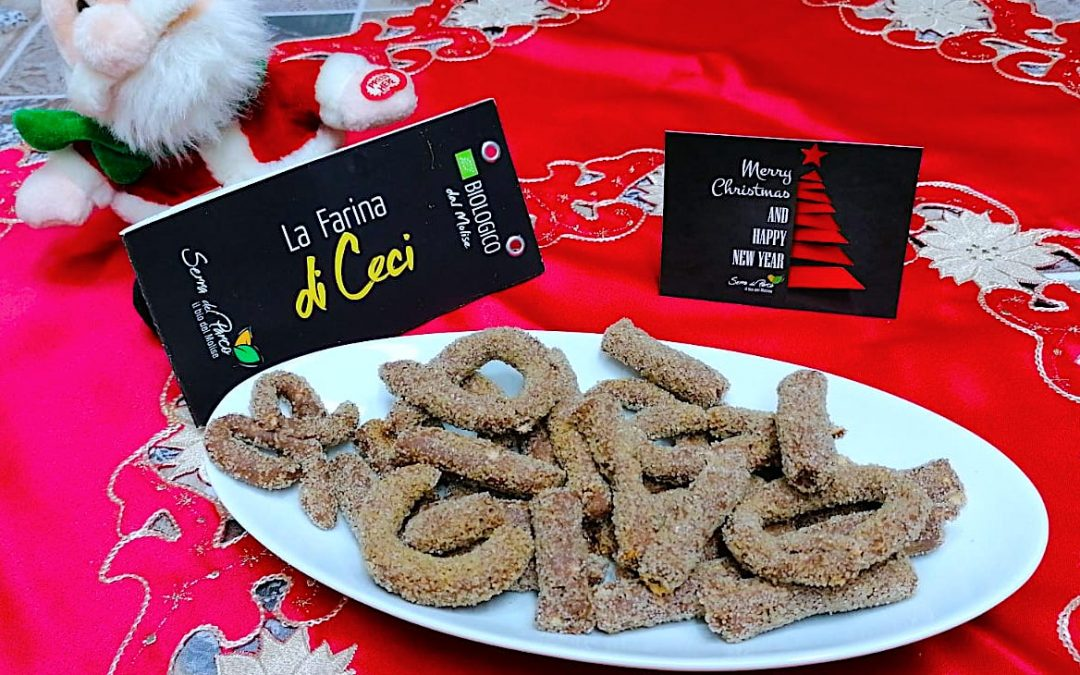 Biscotti al vino e nocciole con farina di ceci bio