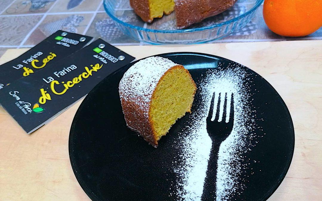 Molly cake all'arancia con farina di Cicerchie e Ceci Bio