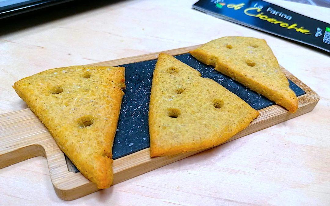 Crackers formaggiosi con farina di Cicerchie bio