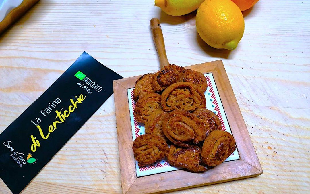 Limoncini (marchigiani) con farina di lenticchie biologica