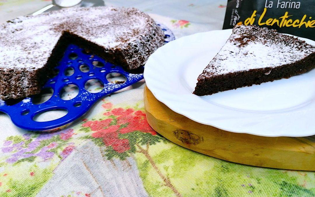 Torta Tenerina con Farina di Lenticchie Bio