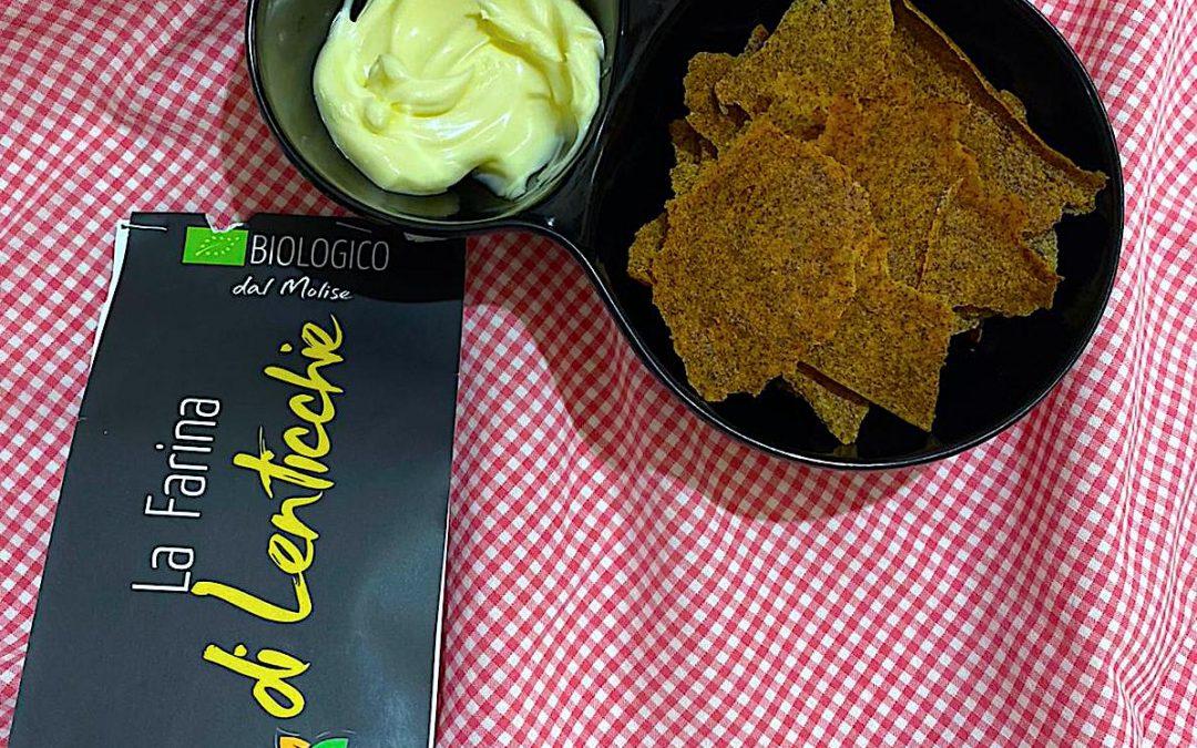 Chips croccanti con farina di lenticchie Bio